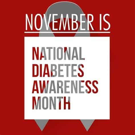 National diabetes awareness month graphic