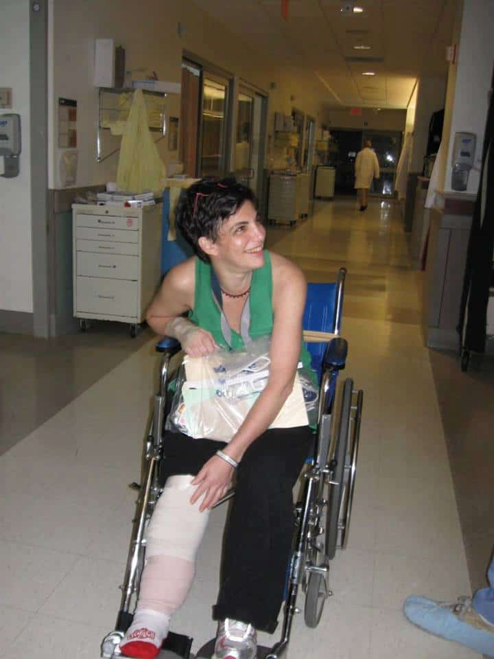 Amy in wheelchair